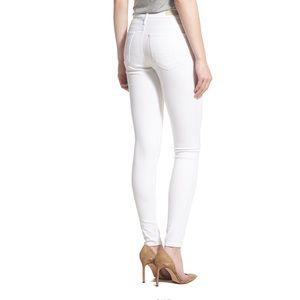 AG Adriano Goldschmied Denim - AG Anthro The Farrah High Rise Skinny White Jean