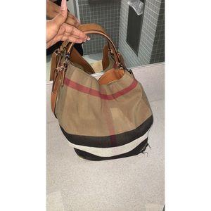 Burberry Bags - Burberry Medium Ashby Check Print Bucket Bag bbbedd13108f6