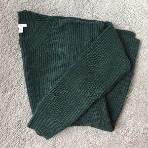 bp Sweaters - Hunter Green Ribbed Pullover