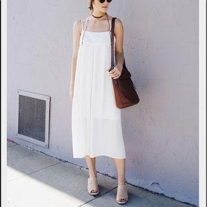 who what wear Dresses & Skirts - Cream Apron Slip Dress