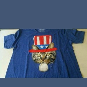 Fifth Sun Other - Uncle Sam cat large nwot men's blue tee