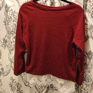 Tops - scarlet lace top