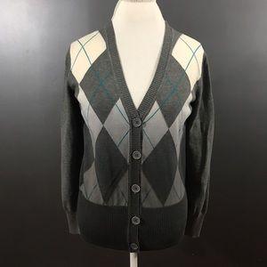 New York & Company Argyle Sweater Size Large