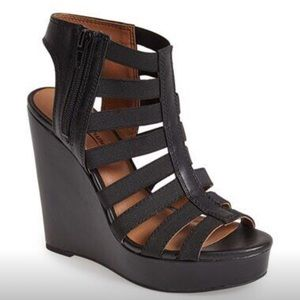 Lucky Brand Shoes - Lucky Brand Riona Black wedges