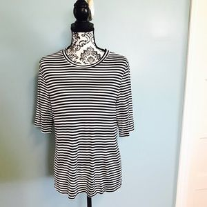 H&M Black and White Striped Tee