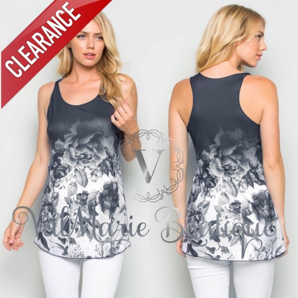Valmarie boutique clearance last 2 dark grey rose for Boutique tops