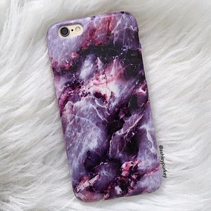 B-Long Boutique  Accessories - purple marble galaxy iPhone 6/6s 7 Plus phone case