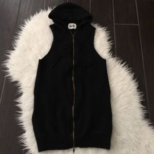 Acne Tops - Acne black zip vest. Acne vest. Acne hooded vest