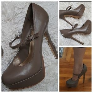 Cathy Jean Shoes - CATHY Jean Leather Platform heels sz 8.5
