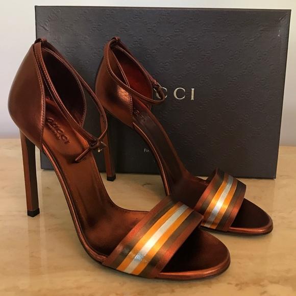 517eab4f3a Gucci Shoes | 250 Sale New Nappa Silk Sandal In Bronze | Poshmark