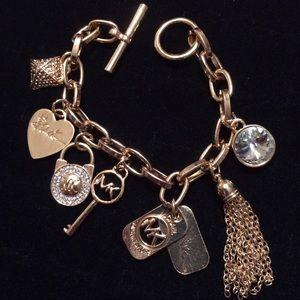 Michael Kors Jewelry - RARE MK  Gold & Crystal Charm Bracelet - Gorgeous