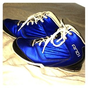 and1 Other - Boy's metallic blue AND1 sneakers