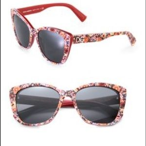 Dolce & Gabbana Other - Red Floral Dolce and Gabbana Sunglasses