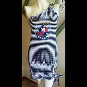 COOGI Dresses & Skirts - Navy and White striped dress