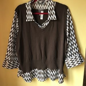 Apt. 9 Tops - NWT apt 9 work blouse/vest combo size 2X
