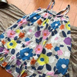 Mini Boden Other - Mini boden grey floral sundress 7-8