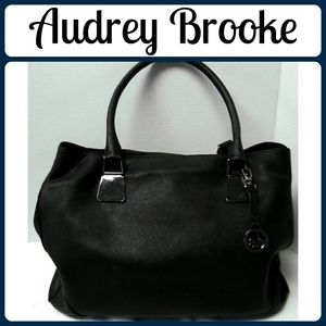 Audrey Brooke Handbags - Audrey Brooke Black Leather Large Satchel