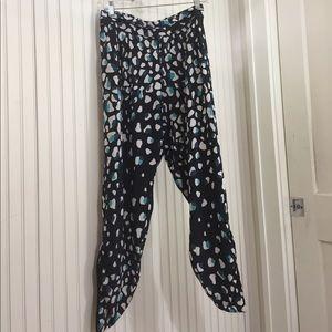 Annie Griffin Pants - Annie Griffin Silk Ankle Pants