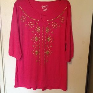 Just My Size Tops - New Just My Size 3/4 sleeve top size 2X