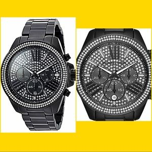 Michael Kors Accessories - Authentic Michael Kors Black Crystal Watch