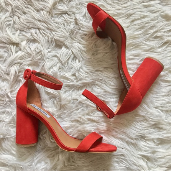 3b694260c4 Steve Madden Shanna Sandals In Red Nubuck. M_5902598a78b31c1a440045c5