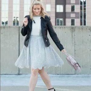 chicwish Dresses & Skirts - Sleeveless lace dress- grey