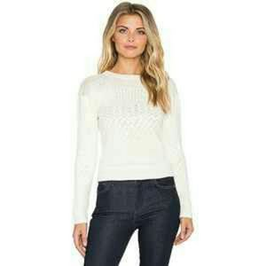 Indah Sweaters - Indah Jane Knit Crop Sweater, Ivory