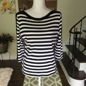 Chaps classic striped shirt size large