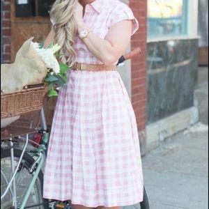 Eliza J Dresses & Skirts - Eliza j pink gingham dress