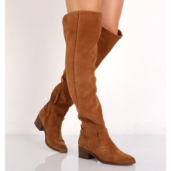 cbcfada862e Dolce Vita Shoes - DOLCE VITA Kitt Tan Suede Over The Knee Boots