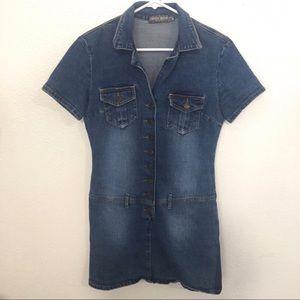 Bisou Bisou Dresses & Skirts - BISOU BISOU denim button-up dress (M)