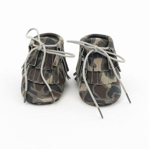 MAC&LOU Other - MAC&LOU BABY GLADIATOR LEATHER MOCCASINS