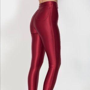 American Apparel Pants - American Apparel The Disco Pant Red Cran