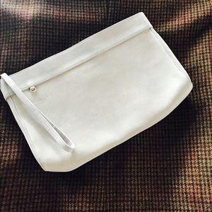 St. John Handbags - ST. JOHN  gray suede clutch purse