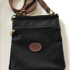 Longchamp Handbags - Longchamp nylon black cross body purse