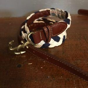 Accessories - Kiel James Patrick navy and white rope belt