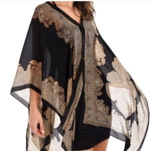 Curvy Couture Tops - Chiffon Sheer Bathing Suit Cover Up Shawl NWT