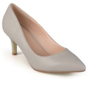 Journee Collection Shoes - Classic Matte Grey Pumps - size 9