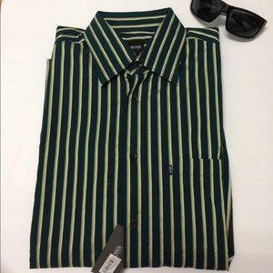 Hugo Boss Other - Boss Hugo Boss Men's Striped Shirt Green NWT L/S
