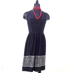 Evan Picone Dresses & Skirts - Evan Picone Ruched gathered black knit dress 8