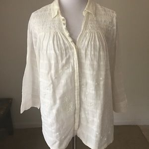 Anthropologie Vanessa Virginia Embroidered Blouse