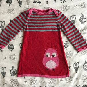Mini Boden Other - Baby Boden Owl Sweater Dress