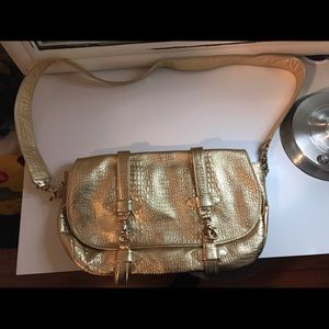 zina eva Bags - Gold metallic Zena Eva shoulder bag- NWOT