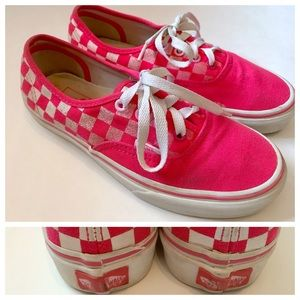 🎈firm🎈VANS Pink & White Checkerboard Vans, 6 ish