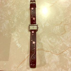 Skagen Accessories - Skagen Black/Pink Flower Band Watch