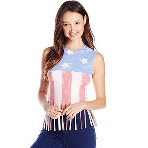 Vintage American Flag Muscle Tank Top