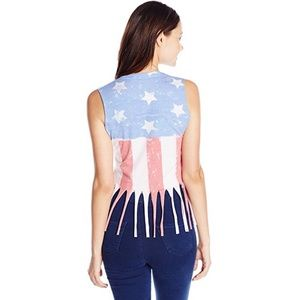 Hot Topic Tops - Vintage American Flag Muscle Tank Top