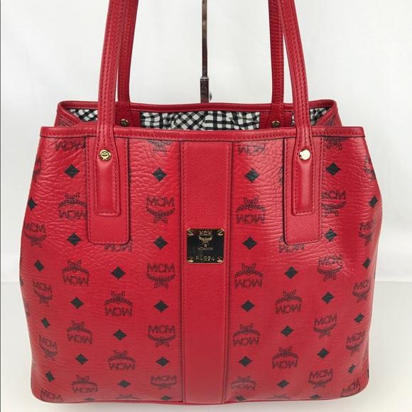 50 off mcm handbags mcm medium liz shopper tote with. Black Bedroom Furniture Sets. Home Design Ideas
