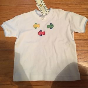 3t Florence Eisman shirt with embroidered fish