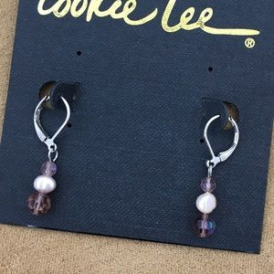 Cookie Lee Jewelry - 🎁 Cookie Lee | Crystals & Pearl Earrings